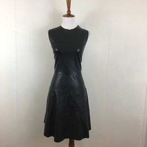 41 Hawthorne Faux Leather Sleeveless A-Line Dress